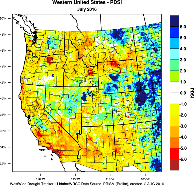 Image of The Great Basin Weather and Climate Dashboard online tool