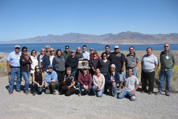 Photo of attendees from a climate adaptation training